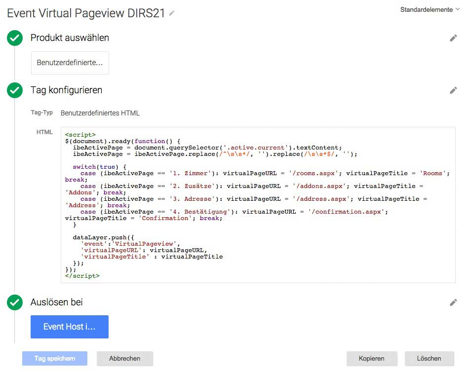Google Tag Manager Virtual Pageview Setup